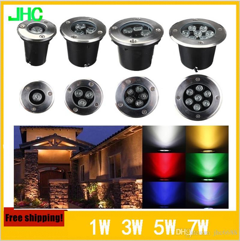 Lampade sotterranee a LED impermeabili IP67 Sepolto Spot da incasso a incasso Illuminazione da incasso 1W 3W 5W 7W 12W Path Garden AC100-240V IP67 Path Lamp