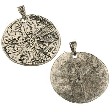diy large pendants jewelry for woman bags necklaces wholesales charms animal dragonfly antique silver metal jewelry components 71*63mm 20pcs