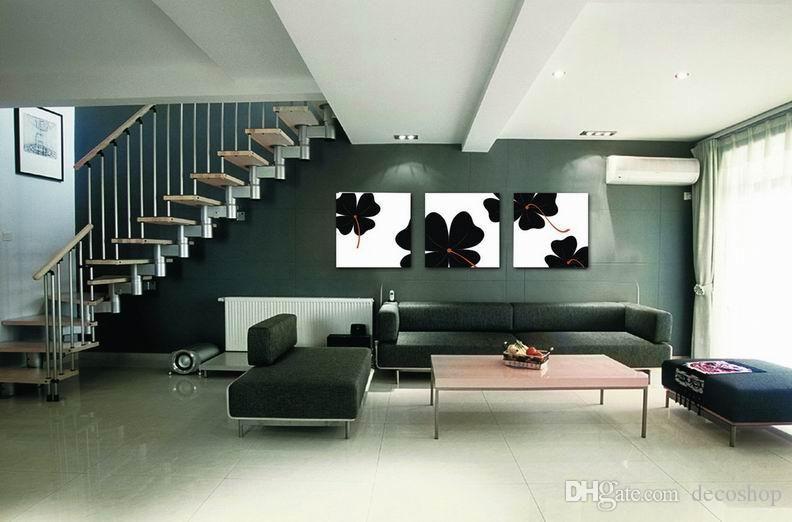 Moderna Bela Flor Fina Pintura Floral Giclee Impressão Na Lona Home Decor Wall Art Set30398