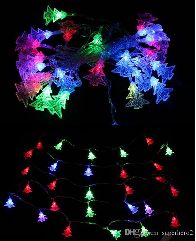 holiday led lighting waterproof colorful lighting strings bells snowflake lights party festive christmas event props decorative