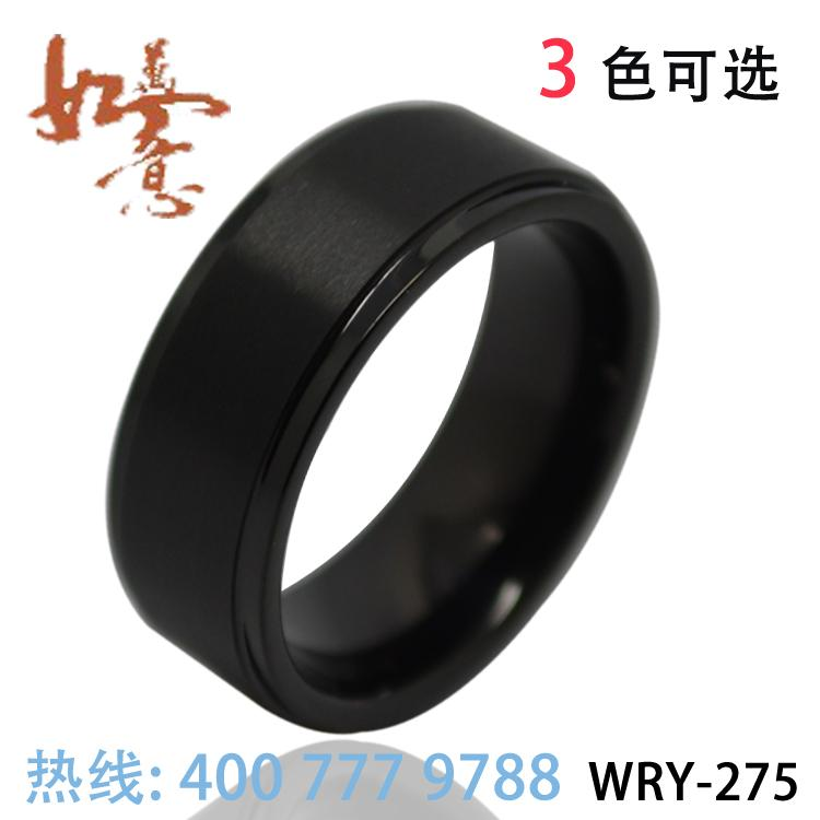 Wholesales CLASSIC BLACK TUNGSTEN RINGS JEWELRY RINGS ENGAGEMENT RINGS WRY-275