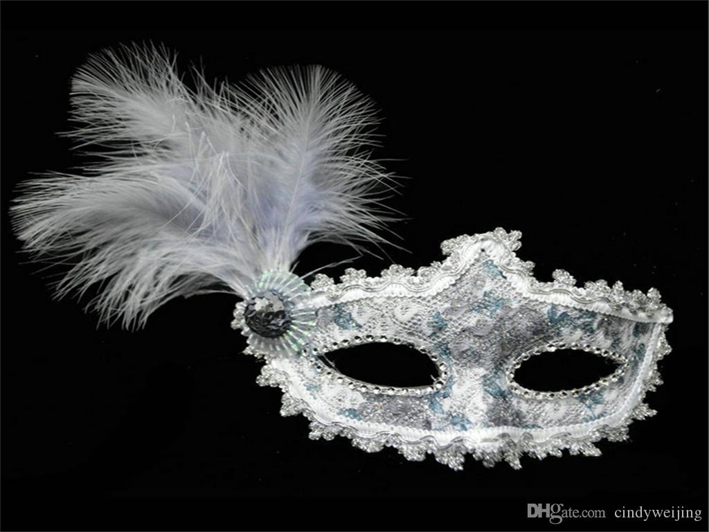 Halloween Plastic Masks For Adult Lace Half Face Prom Lady Fashion ...