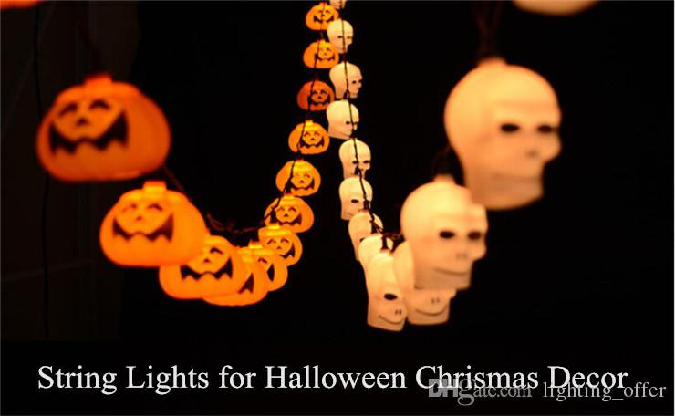 3,5 Mt Ghost Schädel Kürbis Lichterketten für Halloween Weihnachtsdekoration LED String Lichterketten für Urlaub Festival Party Kostenloser Versand