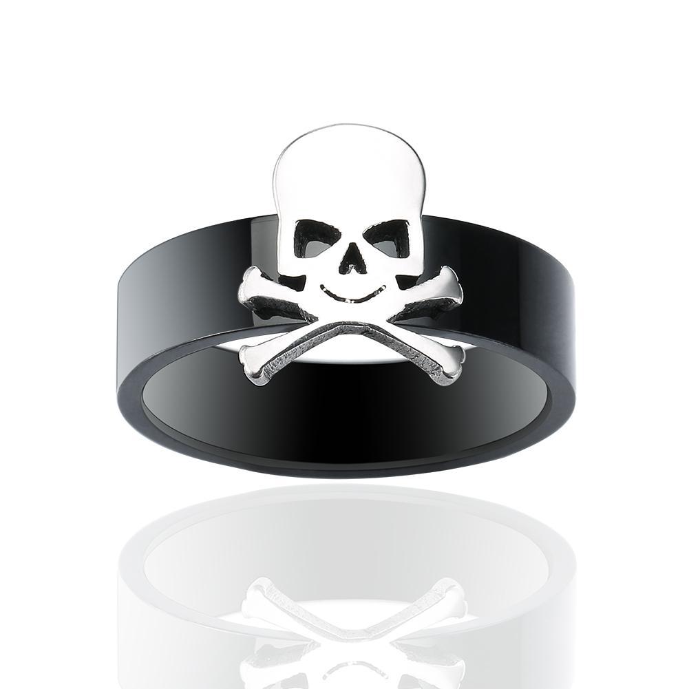 10 unids / lote hombres libres del envío de acero inoxidable de tungsteno Wed Ring Skeleton Skull Punk anillos del estilo para los hombres