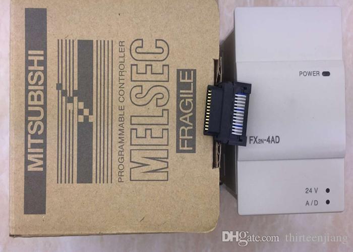 Novo na caixa Mitsubishi PLC FX2N-4AD FX2N-4DA Controlador Lógico Programável Grátis Expedido Expedido