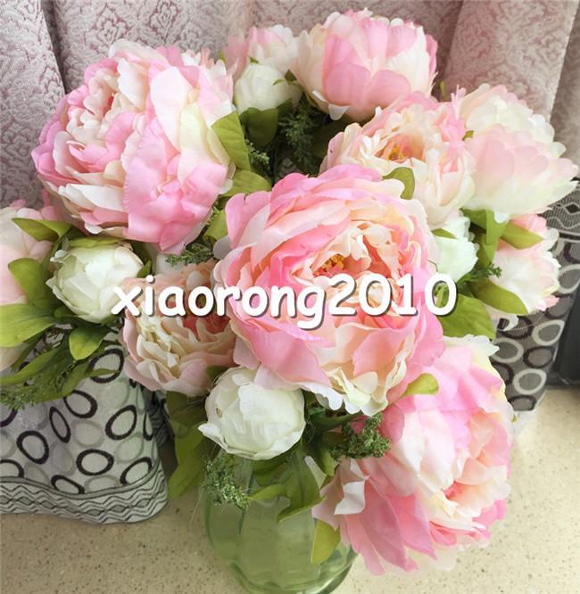 """Peony Bunch (7 Heads / Piece) 45cm / 17.72 """"Peony Flower for Bridal Bouquet bruiloft tafel centerpiece kunstmatige decoratieve bloemen 5 kleuren"""