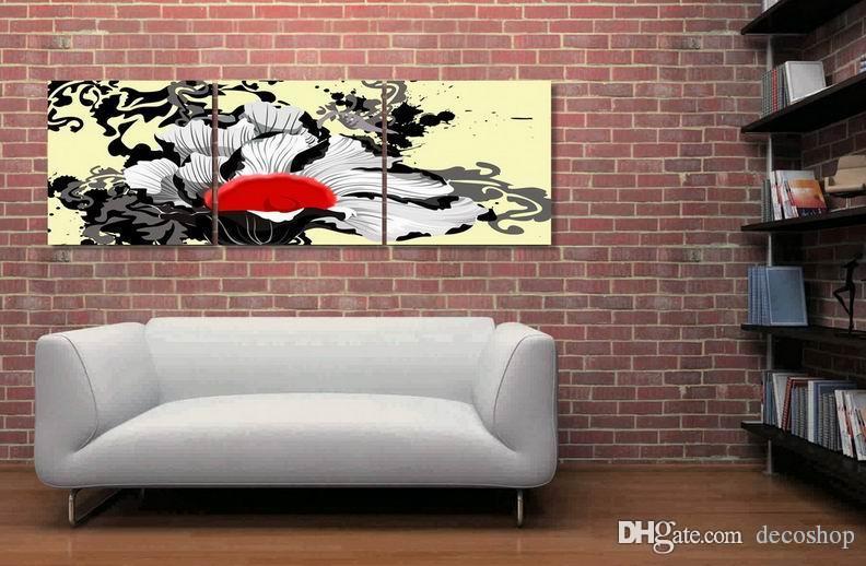 현대 아름 다운 꽃 괜 찮 아 요 꽃 그림 캔버스에 Giclee 인쇄 홈 장식 벽 예술 Set30339