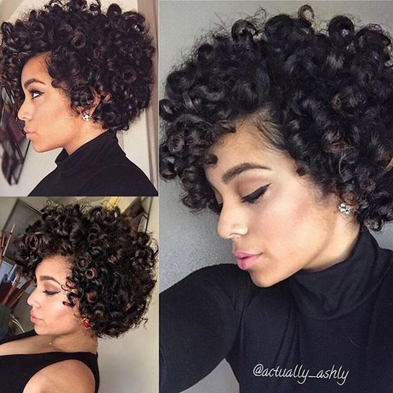 Kinky Short Curly Lace Front Wigs Vietnamese