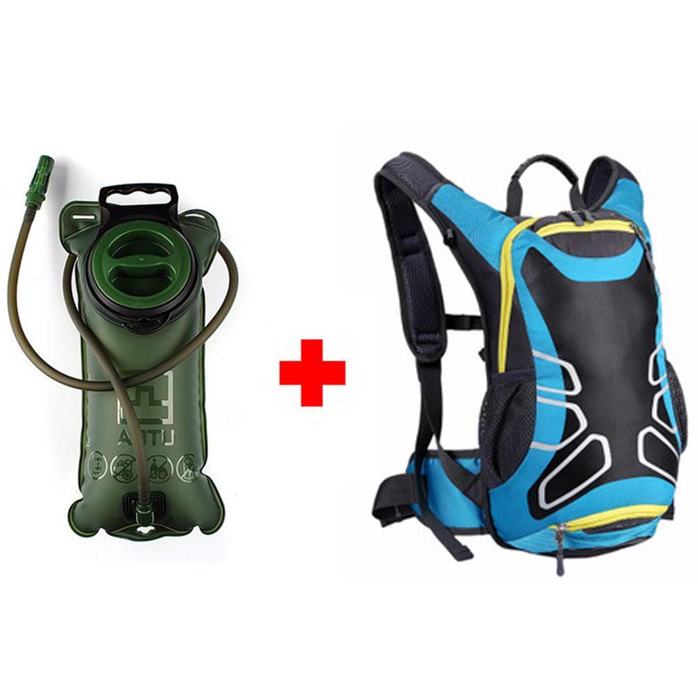 15L 스포츠 2L 물 가방 인간 공학 Hydration 사이클링 가방 야외 등산 캠핑 하이킹 배낭 62
