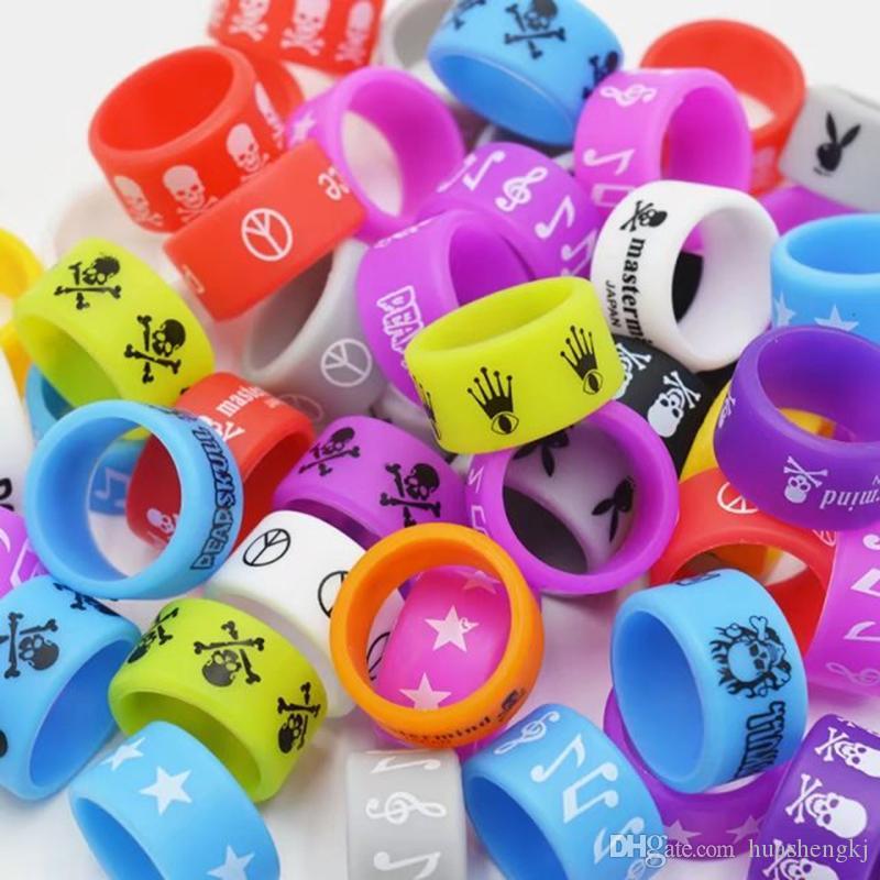 Bande Ecigs Vape silicone Silicon Rubber Band Ring per Mech Mod Protezione Band Vape Mod gomma Vape colorati vaporizzatore RDA Serbatoi