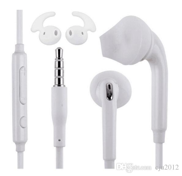 Headphones for Samsung Galaxy S7 S7 edge In-Ear Earphone with Mic and Remote Stereo 3.5mm Plug Headset for Samsung 100pcs