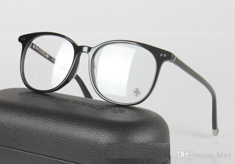 حار بيع ماركة تصميم عادي نظارات الرجال النساء النظارات الإطار الكمبيوتر نظارات قصر النظر النظارات البصرية oculos دي غراو الأم rfungis 52 ملليمتر مع حالة