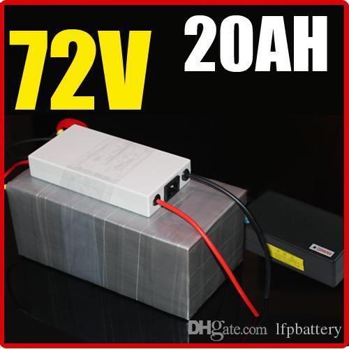 72V 20AH bateria de lítio, com 1500W BMS Chargrer, RC energia solar E-bike bicicleta elétrica Scooter 84V bateria