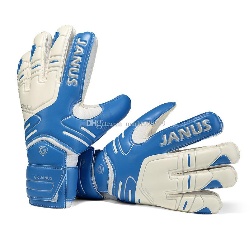 2016 New Adult male Genuine JA383 Back PU/EVA Soccer Goalkeeper Gloves Men's gloves with finger guard palm latex gloves Slip resistant