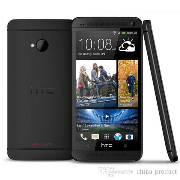 100% Original Unlocked HTC ONE M7 Android Smartphone 32GB ROM 4.7inches GPS 3G Dual camera 8MP WIFI Quad Core WIFI Refurbished phone