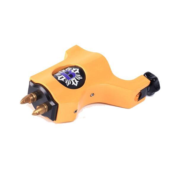 La ametralladora rotatoria del tatuaje del estilo del obispo amarillo para el tatuaje agujerea las tazas de la tinta Kits de los consejos 8 colores puede elegir