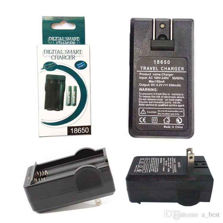Universal 4.2V Rechargeable 2 Slots Smart Charger For 18650 Li-ion Battery EU PL