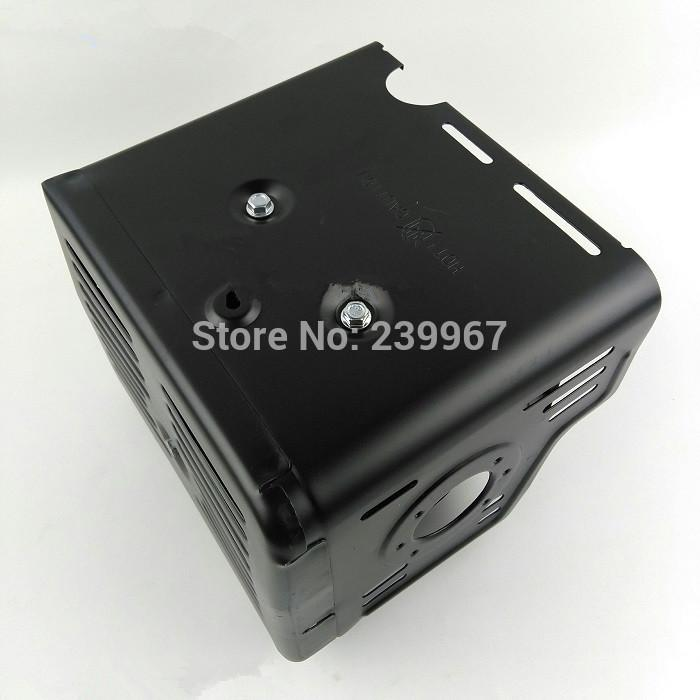 Capa de silenciador (estilo A) se encaixa Honda GX340 GX390 GX420 389CC frete grátis 420CC 13HP calor escudo assy peças de trilho da bomba de água