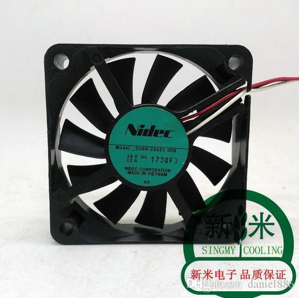 Original NIDEC D06R-24SS1 05B 6 cm 24 V 0.12A 6015 60 * 60 * 15 MM ventilador do inversor de três fios