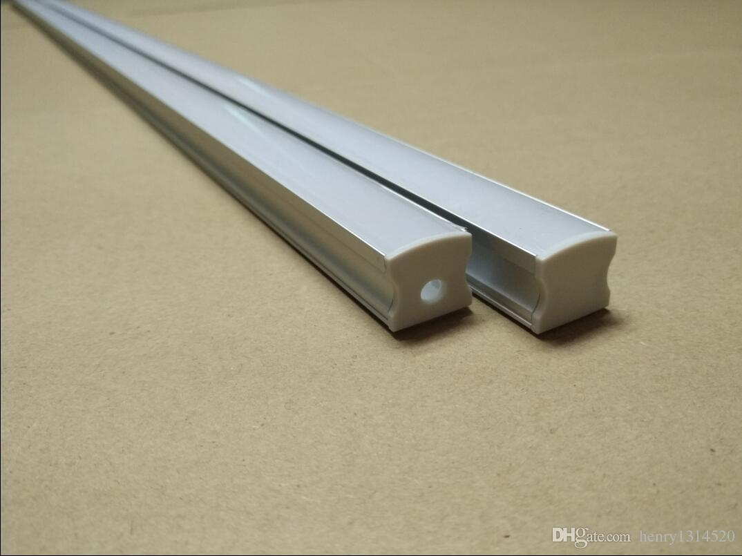 Free Shipping recessed Aluminum profile with diffuser and clips for LED Strip Light For Cabinet Light Bar light
