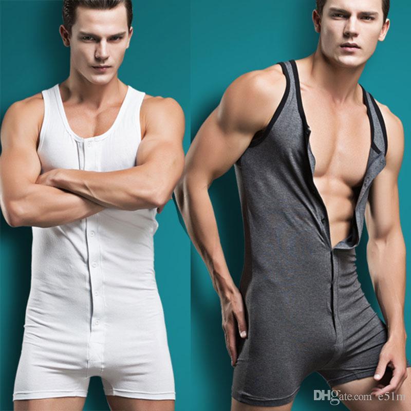 Superbody Männer Bodysuit Overall Homosexuell Männer Unterwäsche sexy Bodywear Baumwolle Nachtwäsche Coverall