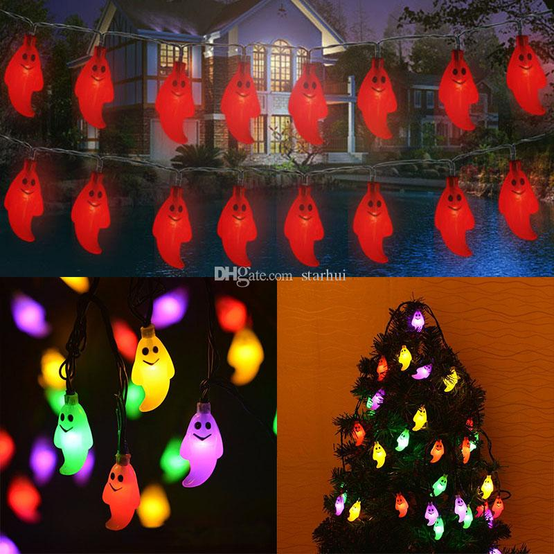2019 New LED Ghost Lights Halloween Christmas Decorations 20 Lights Ghost  Solar Home Outdoor Garden Patio Party Holiday Supplies In Stock WX9 34 From