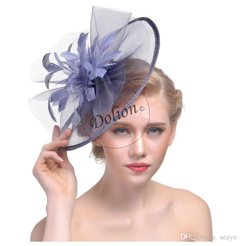 Ladies Hairband Head Band Flower Feather Headpiece Bridal Wedding Hairpin