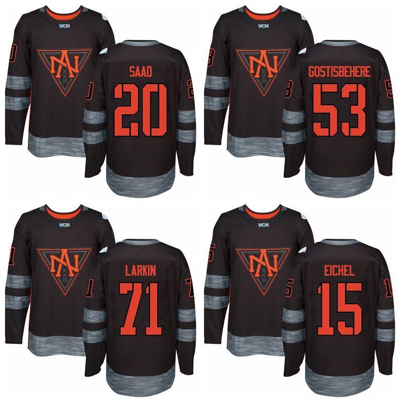 Coupe du Monde de Hockey sur Glace 2016 53 Shayne Gostisbehere Maillots Amérique du Nord 5 Aaron Ekblad 13 Johnny Gaudreau 55 Mark Scheifele 44 Morgan Rielly