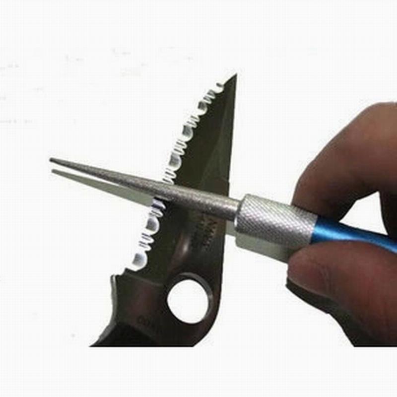 Ücretsiz kargo Açık Taşınabilir Profesyonel Kalem Elmas Bıçak Olta Bileyici Çok Amaçlı Kalemtıraş Balıkçılık