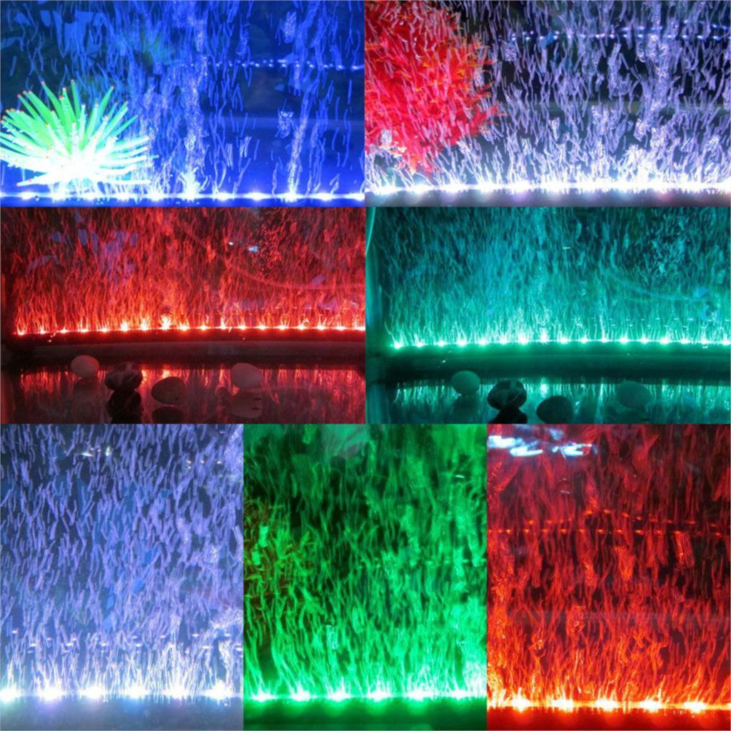 18 Led Waterproof Multicolor Light Aquarium With Remote Submersible ...