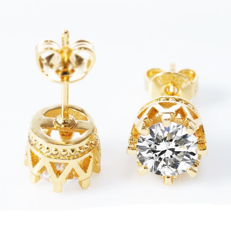 Mode Damen Silber überzogene Kristall Ohrstecker Ohrringe (Farbe: Silber)