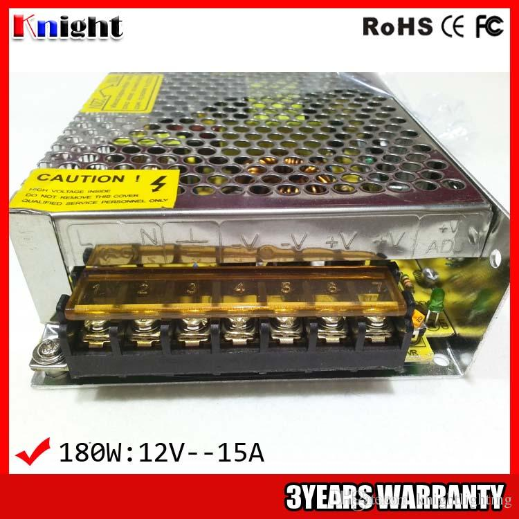 wholesale 180W 15A 12V Power supply for led strip light AC90-265V input voltage,aircraft monitoring and control power supply 180w