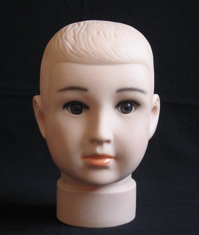 niño de alta calidad Mannequin Head Hat Display peluca pista de entrenamiento modelo cabeza modelo modelo de cabeza de niño