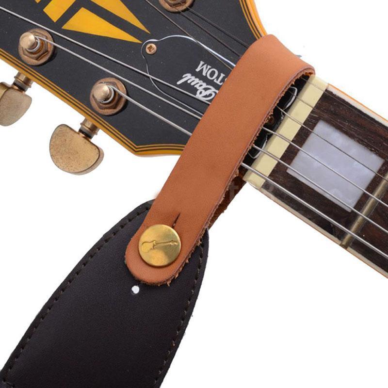 1 قطعة الغيتار الأشرطة فو الجلود حزام هوك زر ل الصوتية / الشعبية / الكلاسيكية الغيتار دائم القيثارات الحمراء باس أجزاء الق