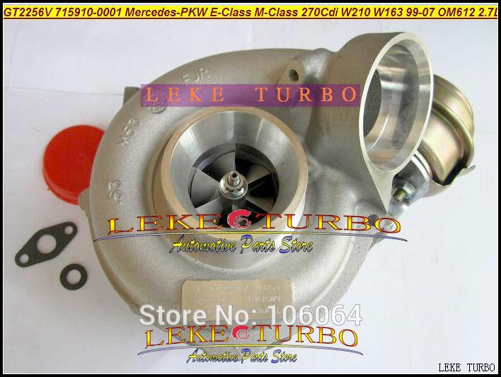 GT2256V 715910-5002S 715910 Turbo Turbocharger For Mercedes-PKW E-Class 270 CDI W210 M-Class W163 1999-07 OM612 2.7L 170HP (4)