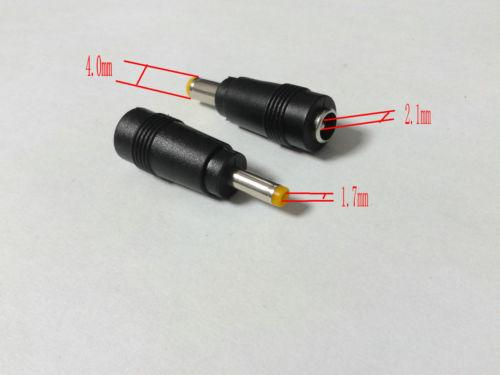 6PCS 5.5 x2.1mm DC Female Power Plug Tip TO 4.0 x 1.7mm DC Male for HP laptop