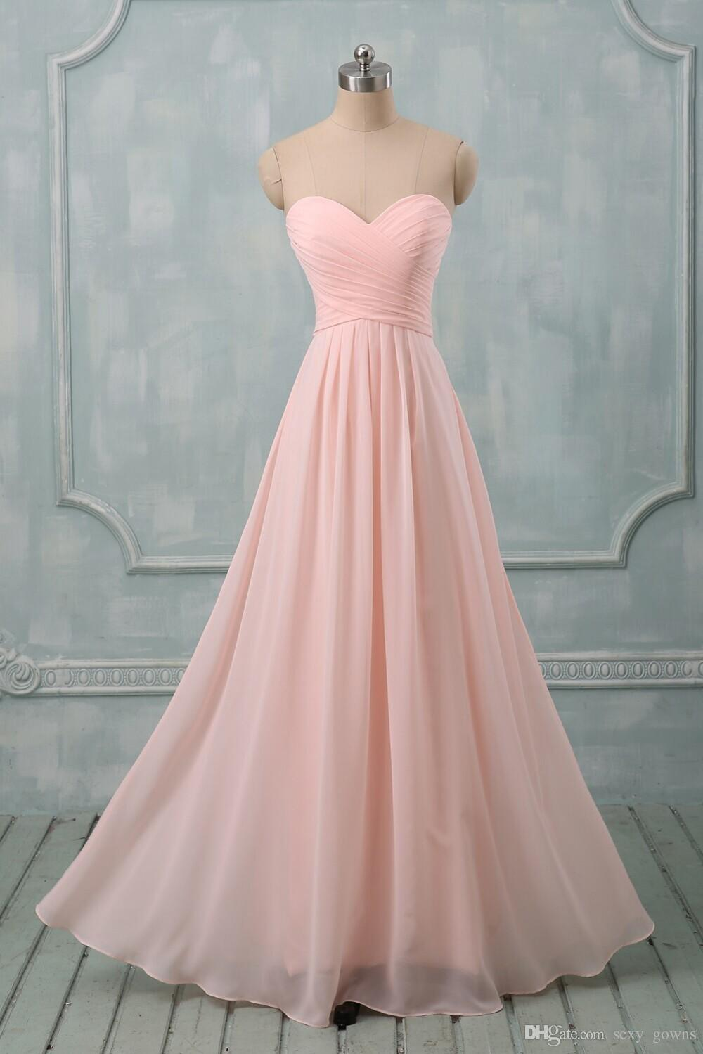 Coral Colors Bridesmaid Dresses For Wedding Party Long A Line ...