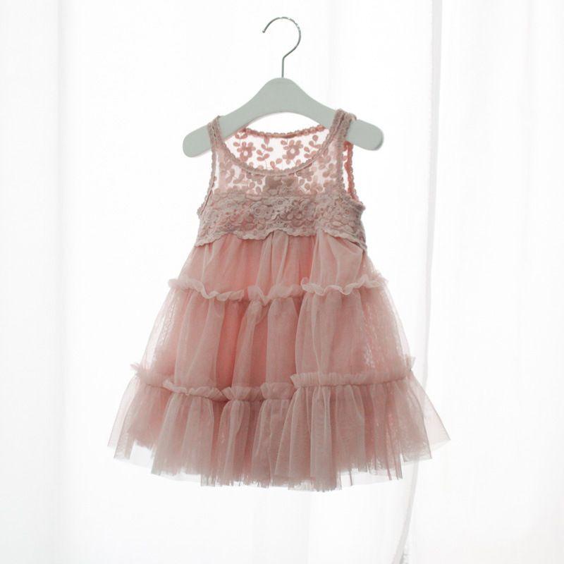 2017 bebé niña niño vestido de fiesta niña hongo borde borde transparente velo princesa vestidos navidad fiesta vestidos de verano vestido sin mangas
