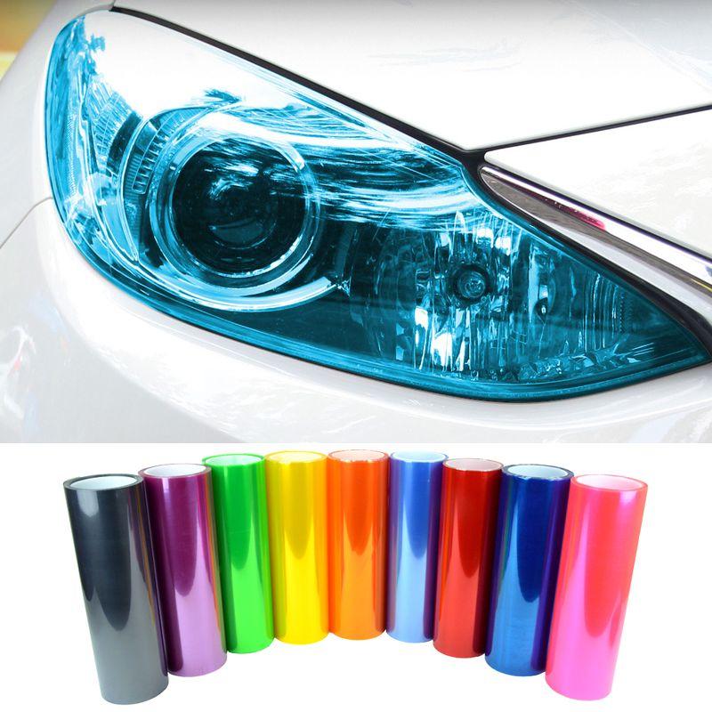"""Araba Styling Yeni 13 Renkler 12 """"X 40"""" 30 CM X 100 CM Auto Car Işık Far Arka Lamba Tonu styling su geçirmez Vinil Film Sticker"""