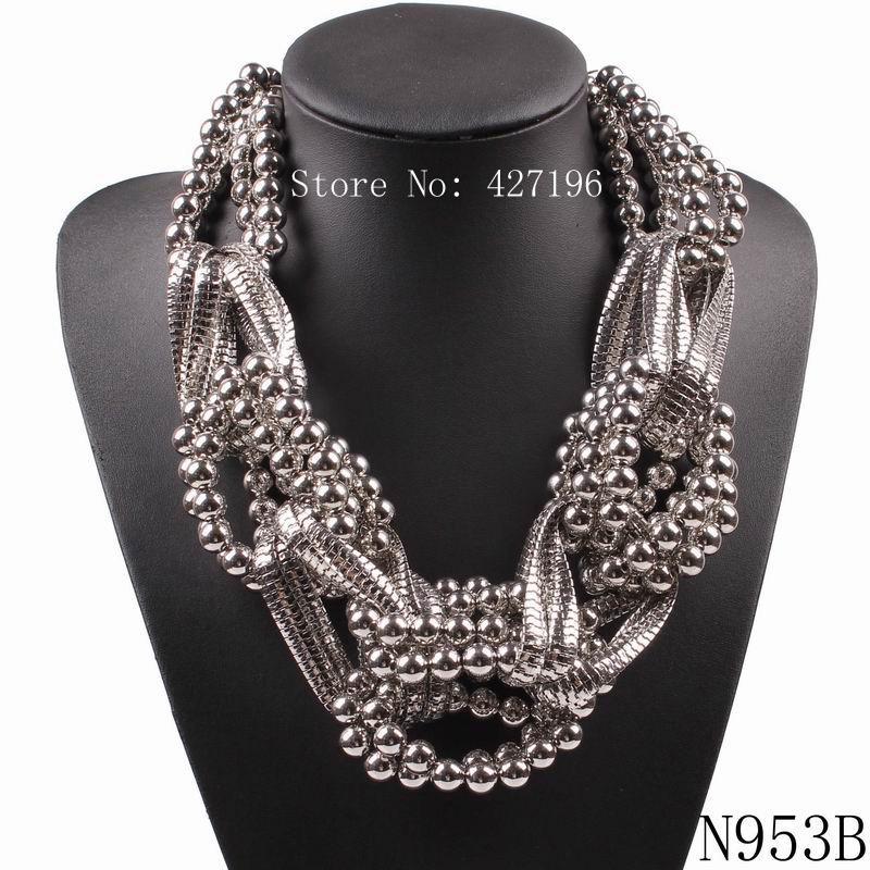 2017 moda novo design marca declaração colar de liga de cadeia talão robusto grande pingente de colar para as mulheres de jóias por atacado