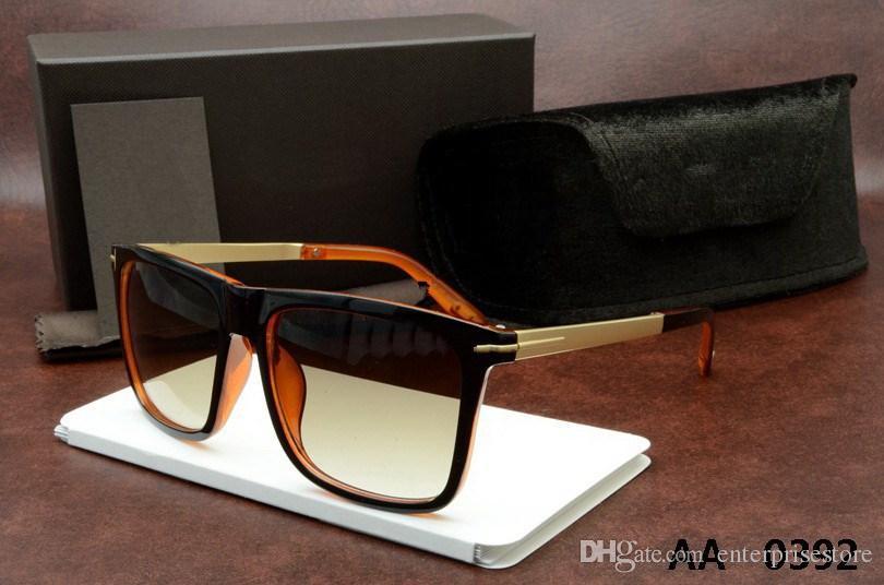 Lüks üst qualtiy Adam Kadın Için Yeni Moda 0392 Tom Güneş Gözlüğü Erika Gözlük ford Tasarımcı Marka orijinal kutusu ile Güneş Gözlükleri