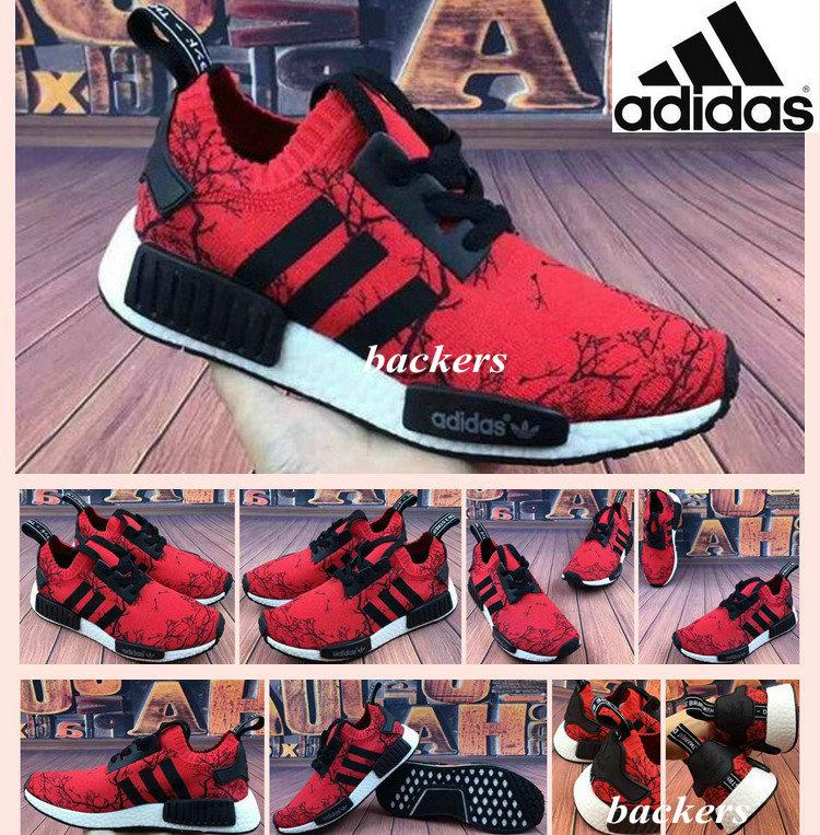 Originals Adidas NMD Running Shoes For Men Women Paris Style Cheap Summer Runner Original Sneakers Casual Red White Size 36 44 Good Running Shoes
