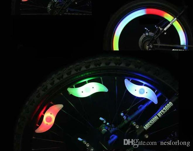 4 Color Bike Bicycle Cycling Spoke Wire Tire Tyre Wheel LED Bright Light Lamp