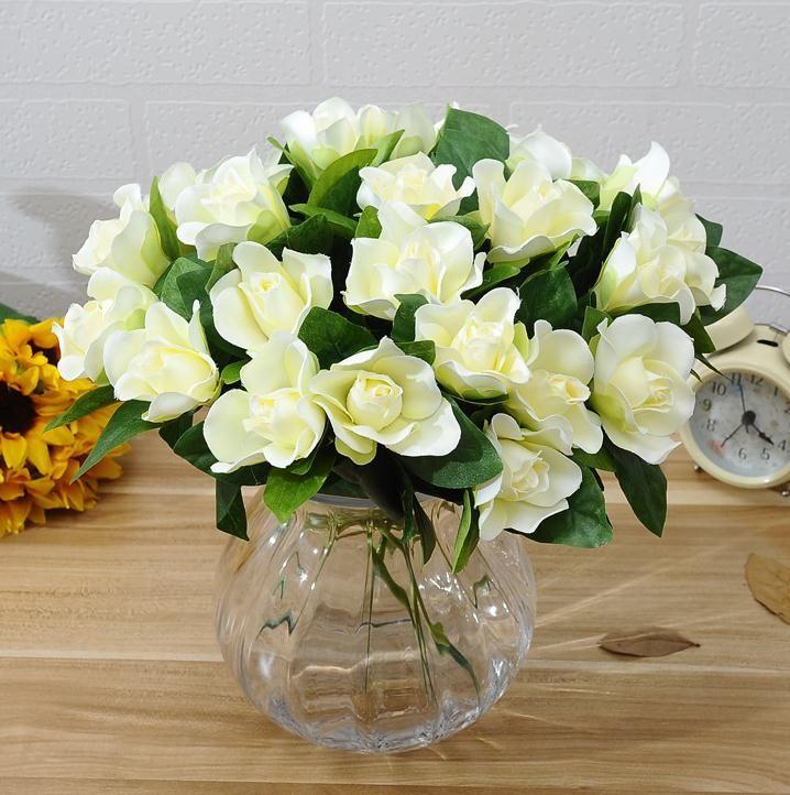 2019 Silk Single Stem Gardenia 30cm/11.81 Length Artificial Cape Jasmine  Flower Gardenias For DIY Bridal Bouquet Accessories From Wrdbf, $1.3