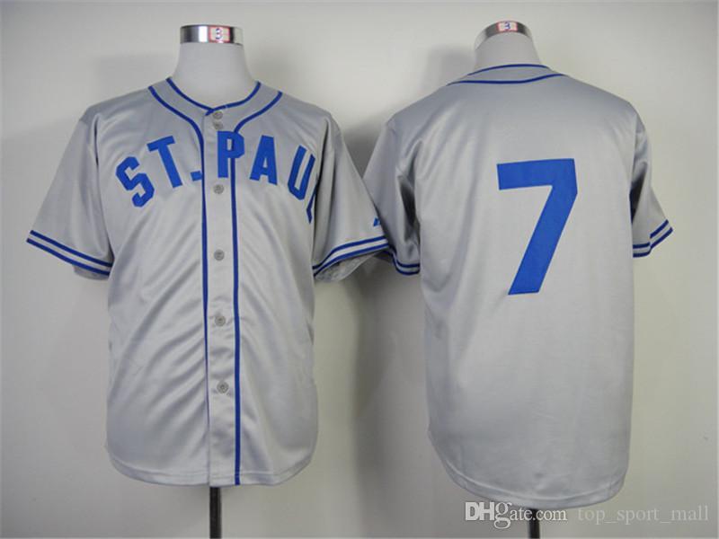 8d87622d5d2 mlb jerseys minnesota twins 7 authentic joe mauer 1948 st. paul saints turn  back the clock jerseys