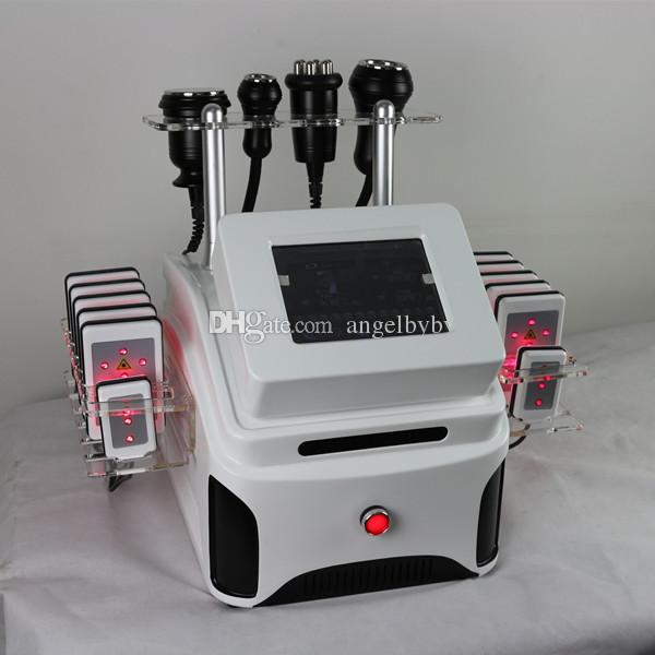 Haute qualité vide l'élimination des graisses cavitation rf lipo laser minceur machine à vide lipolaser DHL livraison gratuite