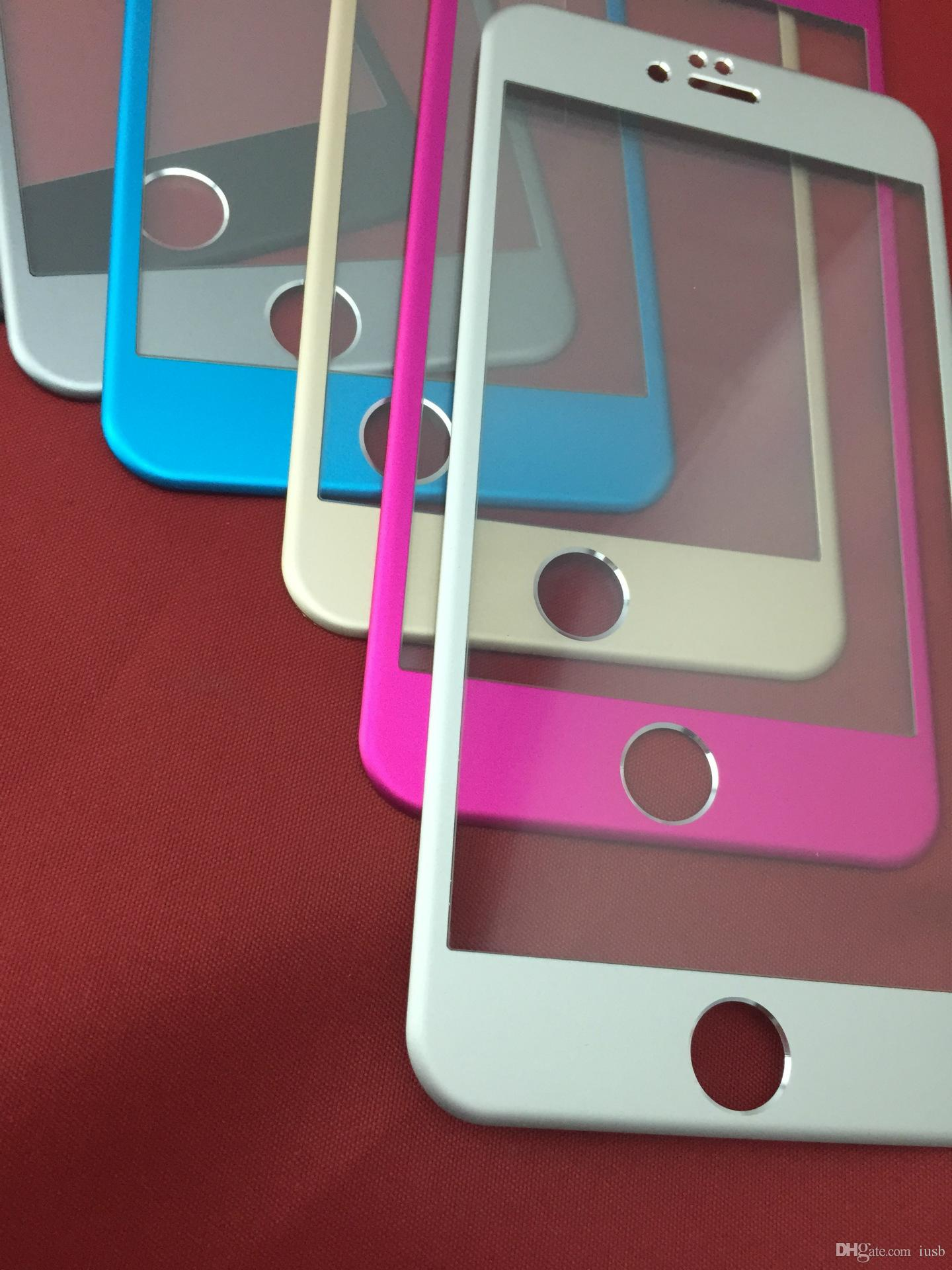 3D изогнутая крышка титановый сплав 9H 0.3 мм закаленное стекло экрана протектор экрана для iPhone 6 iphone 6 Plus протектор экрана