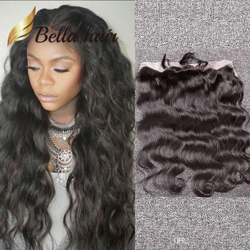 8 ~ 20inch mänskliga hår stängningar 13 * 4 Naturlig färg Brazlian Indian Peruvian Body Wave Lace Frontal Extensions