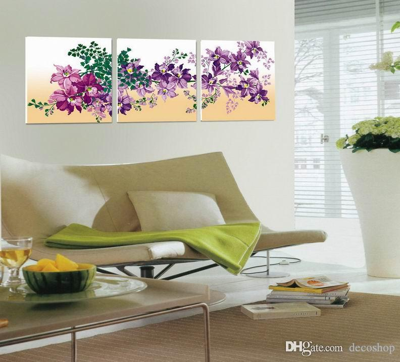 Modern Fine Abstract Flower Painting Giclee Print On Canvas Wall Art Home Decoration Set30253