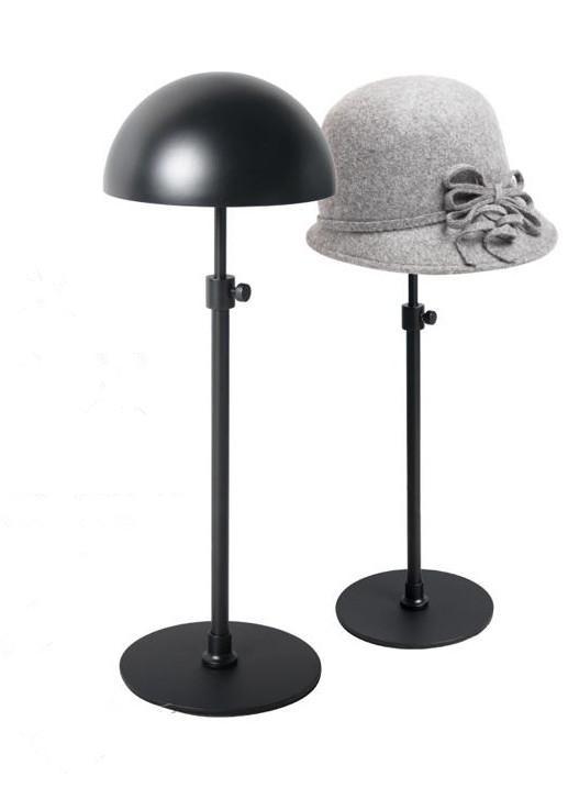 Venda quente preto Ajustável Metal Hat Display Stand / pendurado titulares titular rack de chapéu Preto Frete Grátis IR